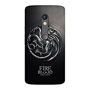 Gorgeous Blood Fire Emb Back Case Cover for Moto X Play