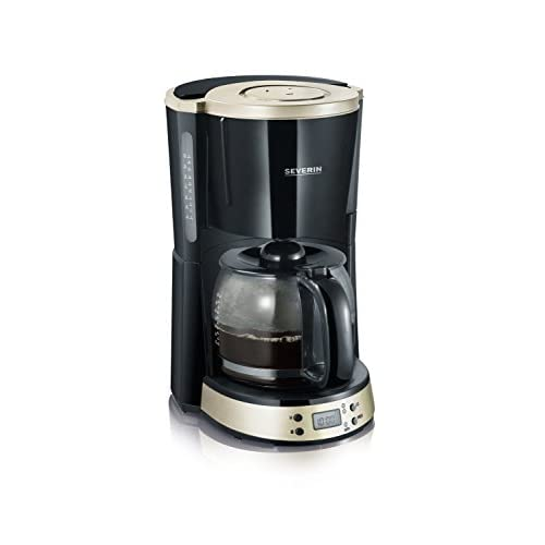 Severin Titanium Coffee Maker with Timer, Black