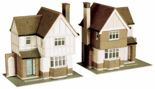 B23 Superquick 2 Detached Houses - 1/72 OO/HO - Card Model Kit