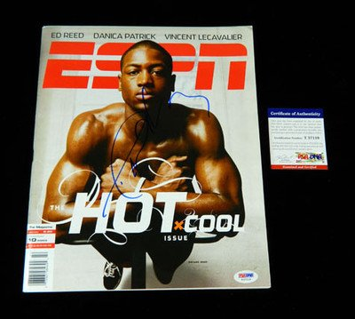 Dwayne Wade Signed ESPN Magazine Heat 10/10/05 Auto - PSA/DNA Certified - Autographed NBA Magazines