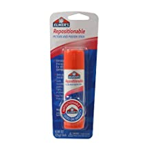 Elmer's Repositionable Picture and Poster Glue Stick, 0.88 Ounces, White (E623)