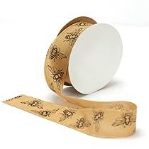 Offray Natural Bees Taffeta Craft Ribbon 1-1/2-Inch Wide by 25-Yard Spool Natural