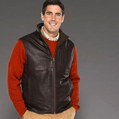 Leather Shetland Vest - Buy Leather Shetland Vest - Purchase Leather Shetland Vest (Bobby Jones, Bobby Jones Vests, Bobby Jones Mens Vests, Apparel, Departments, Men, Outerwear, Mens Outerwear, Vests, Mens Vests)