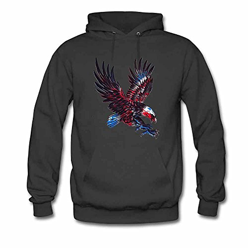 The Eagle Flying Logo printed Women's Hoodie M
