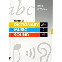Dictionary of Music in Sound (Rhinegold Education)