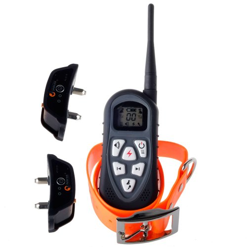 Aetertek At-219 New Version Lcd Display Remote Control Dog Training Collar With Shock Vibration Beep Tone And Auto Anti-Bark Function For 2 S Dogs