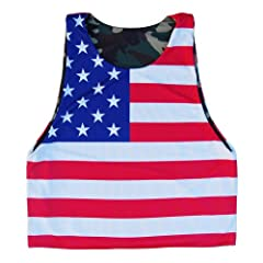 American Flag & Army Camo Lacrosse Sublimated Pinnie
