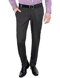 Only Vimal Men's Light Brown Slim Fit Formal Trouser