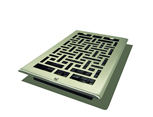 Decor Grates AJL610W-NKL Oriental Wall Register, 6-Inch by 10-Inch, Nickel (Accord Wall Register compare prices)