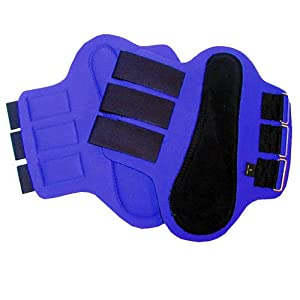 Intrepid International Splint Boots with Black Patches, Large, Blue