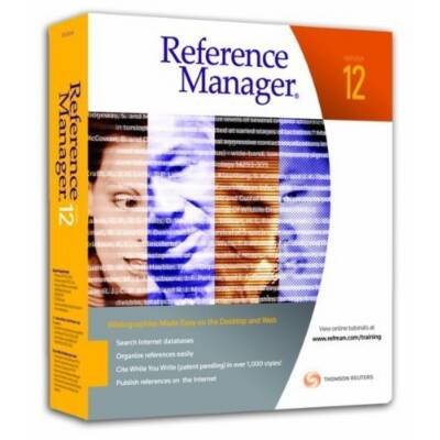 Thomson Researchsoft Reference Manager V.12.0 - Complete Product - 1 User (6126) -