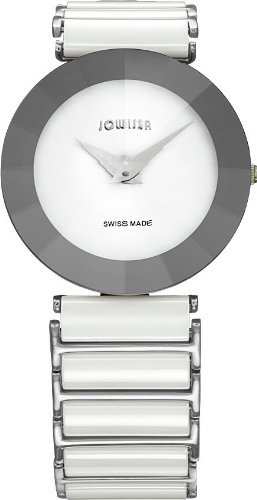 Jowissa Women's J5.116.XL Pyramid Stainless Steel White Dial Mineral Crystal Watch