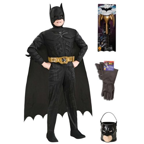 Complete Deluxe Batman Kids Costume with Accessories - Kids Costumes