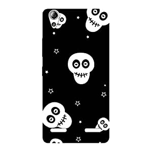 Enticing Skull Star Back Case Cover for Lenovo A6000 Plus