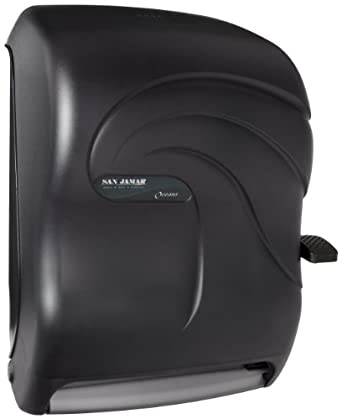 San Jamar T1290TBK Savvy Oceans Roll Towel Dispenser With Auto Transfer