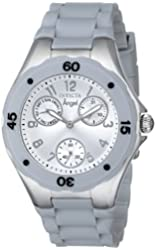 Invicta Women's 1273 Angel Grey Silicone Silver Dial Watch