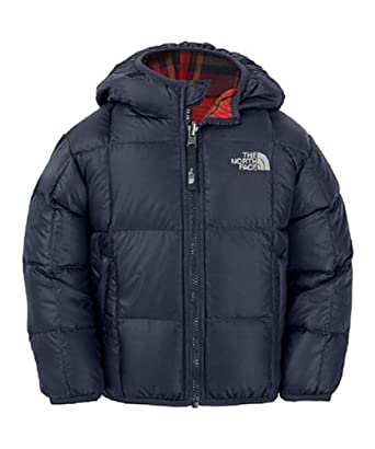 The North Face Reversible Down Moondoggy Jacket Deep Water Blue 3T -Kids