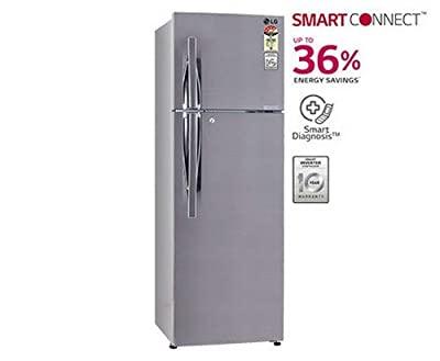 LG GL-M292RPZL Frost-free Double-door Refrigerator (258 Ltrs, 4 Star Rating, Shiny Steel)
