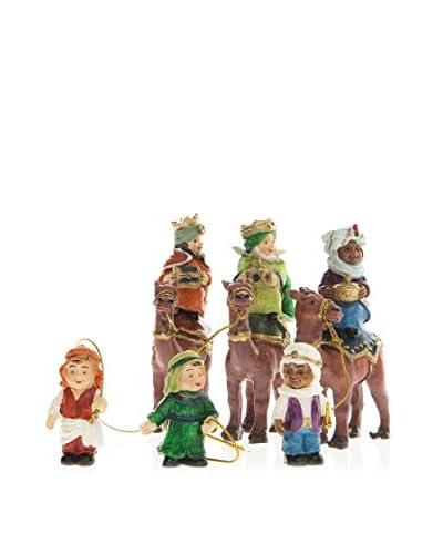 Decoración de Navidad Colección Infantil Figuras Reyes Multicolor