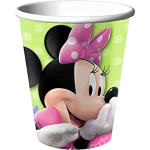 Disney Minnie Mouse Bow-tique 9 oz. Paper Cups Party Accessory by HALLMARK