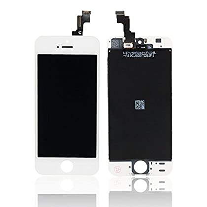 SPINC SP for iPhone 5S Full Set LCD Screen Replacement Digitizer Assembly Display Touch Panel White + Free Repair Tool Kits [Ships fro at Sears.com