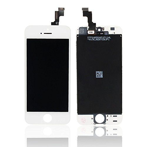 For Iphone 5S Full Set Lcd Screen Replacement Digitizer Assembly Display Touch Panel White + Free Repair Tool Kits [Ships From Usa]