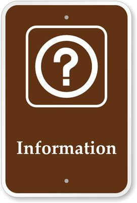 Information (with Graphic) – Diamond Grade Reflective Aluminum Signs, 18″ x 12″