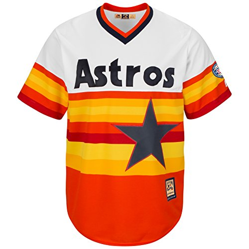 Houston Astros Cooperstown Majestic Cool Base Retro Rainbow Jersey Maglia