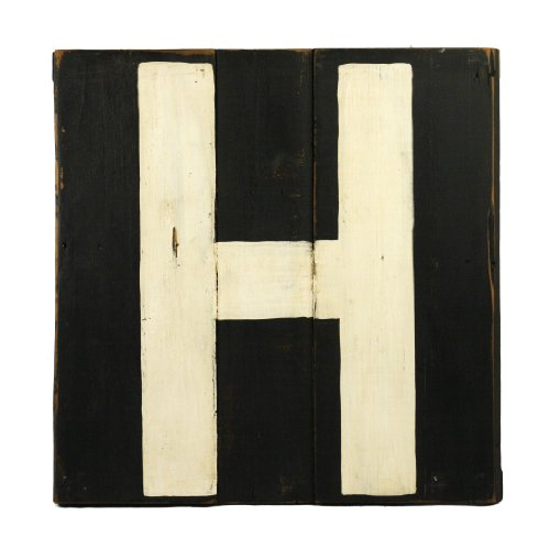 ZENTIQUE Wooden Letter, Monogrammed H - 1