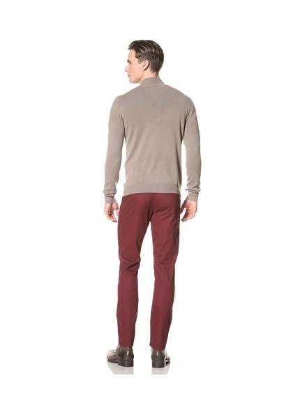 Gran Sasso Men's Vintage Button Front Mock Neck Sweater