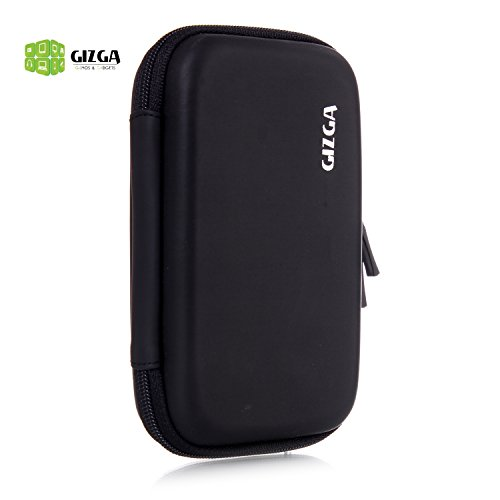GIZGA Branded 2.5 inch HARD SHELL - Color: Black; Series External Portable Hard Disk Drive Carry Cover Protector/ Pouch / Bag/ HDD Case