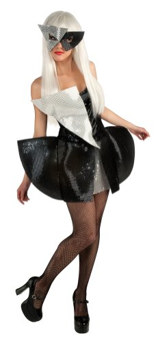 Lady Gaga Dress, Black/Silver, Small Costume