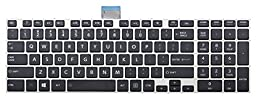 Laptop replacement non-backlit keyboard (silver frame) for Toshiba Satellite U55 U55-A U55-ASP5301SL PSKPNP-00YLM1 U55D U55D-A U55T U55T-A Series, US layout black color