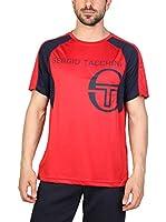 Sergio Tacchini Camiseta Manga Corta (Rojo / Azul)