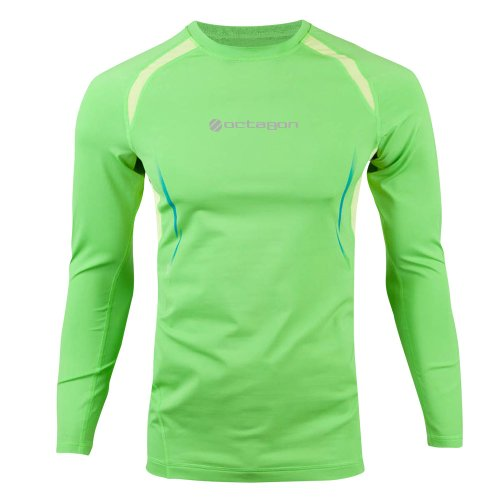 UFC Men's Exo Long Sleeve Training Top, Bright Green, Large ufc 2 ps4