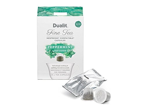 Purchase Dualit Fine Tea Nespresso Compatible Capsules 20 Green Tea & 20 Peppermint Tea from Dualit