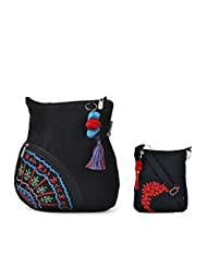 Combo Of Excellent Sling Side Pocket With Black Small Sling Bag