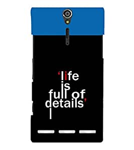 printtech Cool Quotes Back Case Cover for Sony Xperia S Lt26i