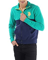 US POLO ASSOCIATION Men's Fleece Sweater (USSS0183_Green_XX-Large)