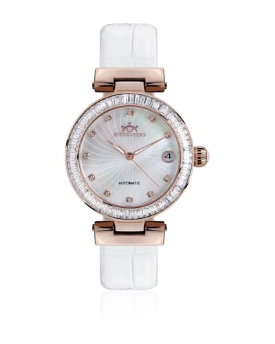 Hindenberg Reloj automático Woman 360-H Grand Lady Blanco 35 mm