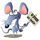 sticker souris avec pancarte 66 cm x 60 cmpar TATOUTEX
