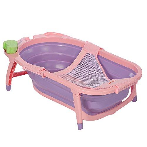 Goolsky Karibu bambino del bambino pieghevole vasca da bagno con rete della maglia e spugna