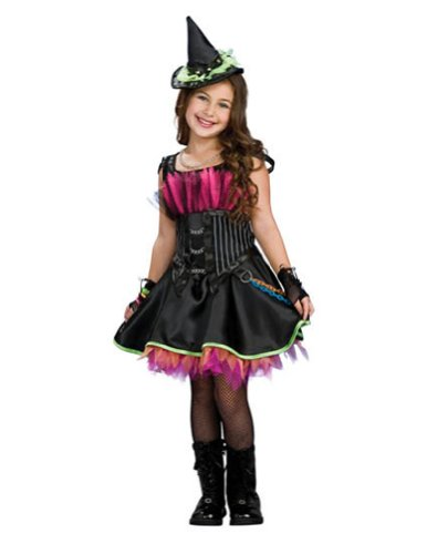 Rockin Out Witch Child Lg Kids Girls Costume