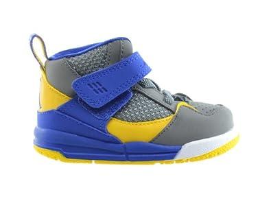 Buy Jordan Flight 45 High (TD) Baby Toddlers Basketball Shoes Cool Grey Varsity Maize-Gym... by Jordan