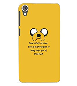 PrintDhaba Quote D-5342 Back Case Cover for HTC DESIRE 820 (Multi-Coloured)