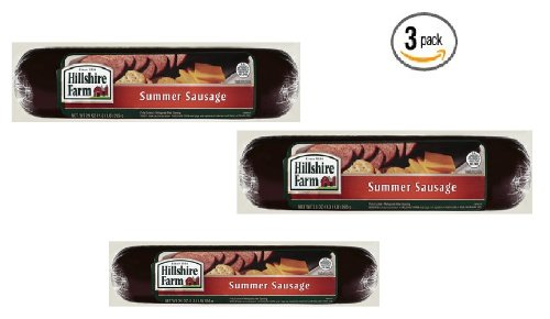 Hillshire Farm Summer Sausage - 21 Oz ( 1.3 Lb) Package, (Pack Of 3)