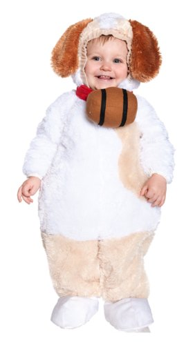 [Underwraps Baby's St. Bernard, White/Tan/Brown, Large] (St Bernard Baby Costumes)
