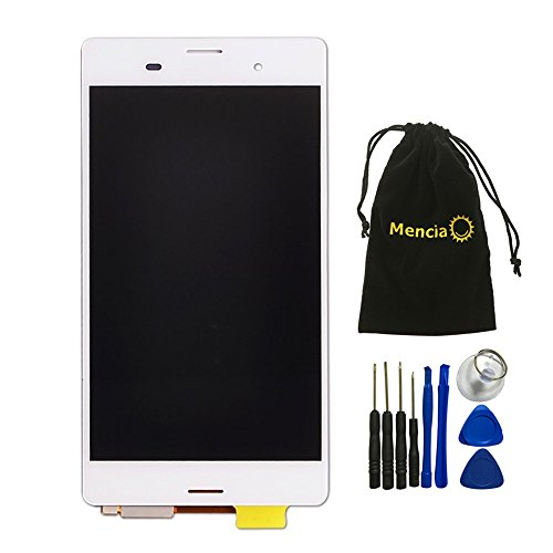 Mencia White Color LCD Display Touch Screen Digitizer Assembly For Sony Xperia Z3