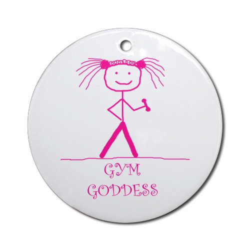 CafePress - Gym Goddess (Pink): Ornament (Round) - Round Holiday Christmas Ornament