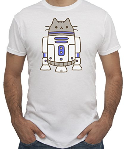 T-Shirt STAR WARS PUSHEEN New Indastria by New Indastria - Uomo-M-BIANCA